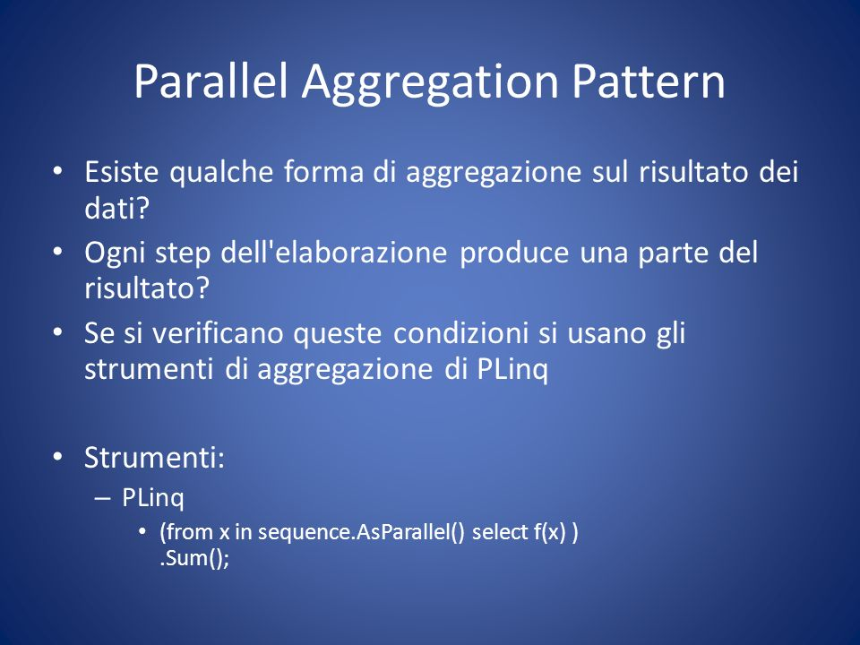 Parallel Aggregation Pattern