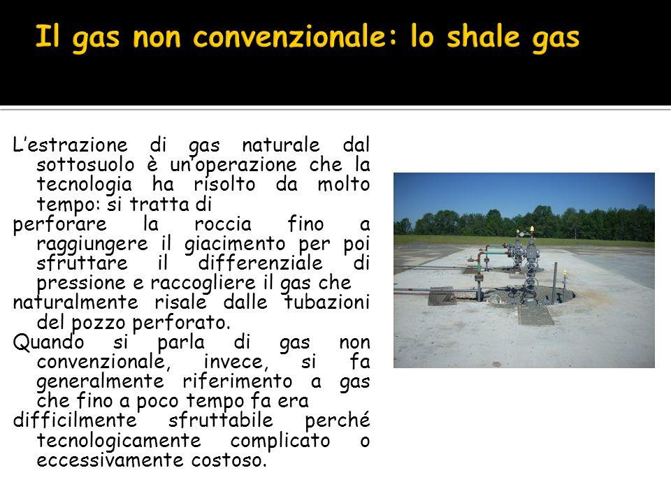 Il gas non convenzionale: lo shale gas