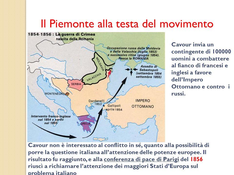 Il Piemonte alla testa del movimento