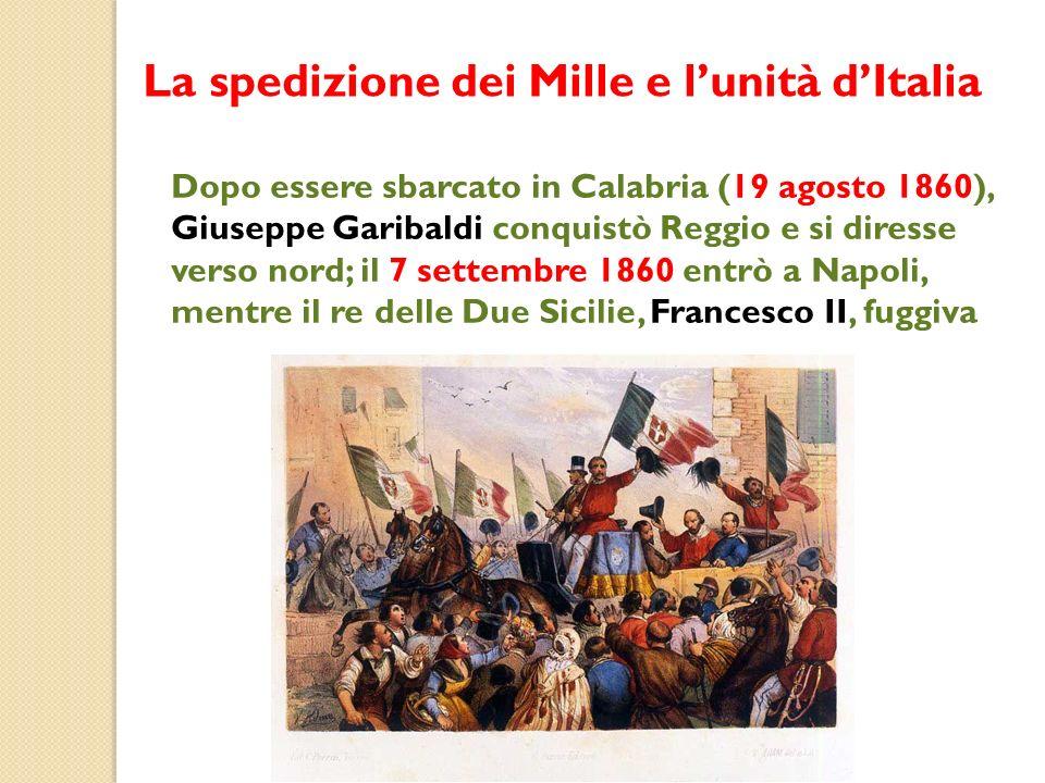 La spedizione dei Mille e l'unità d'Italia