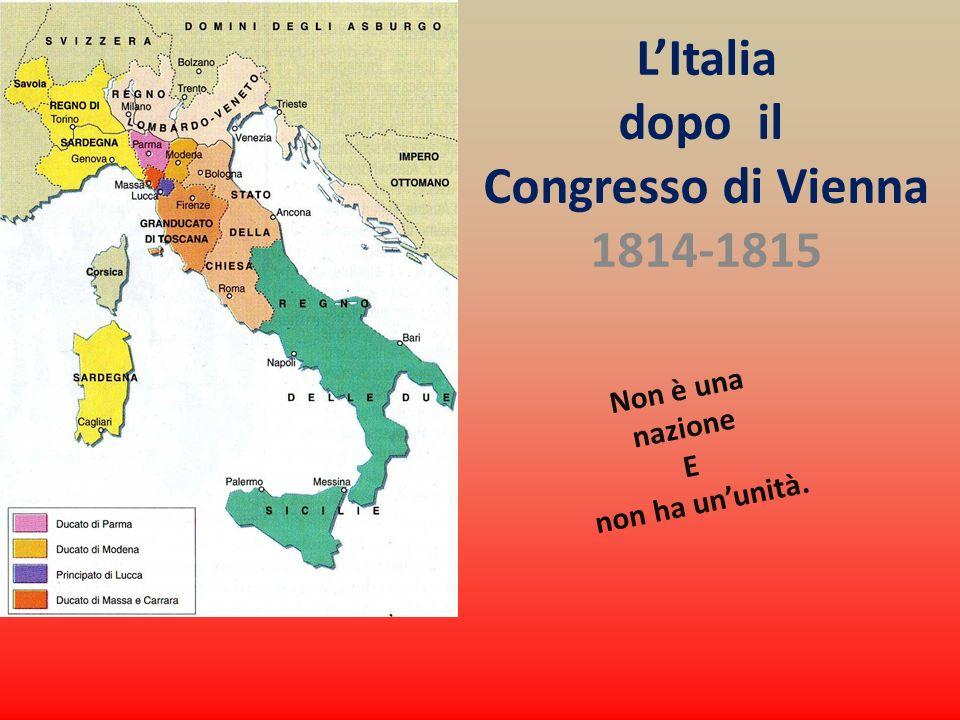 L'Italia dopo il Congresso di Vienna 1814-1815