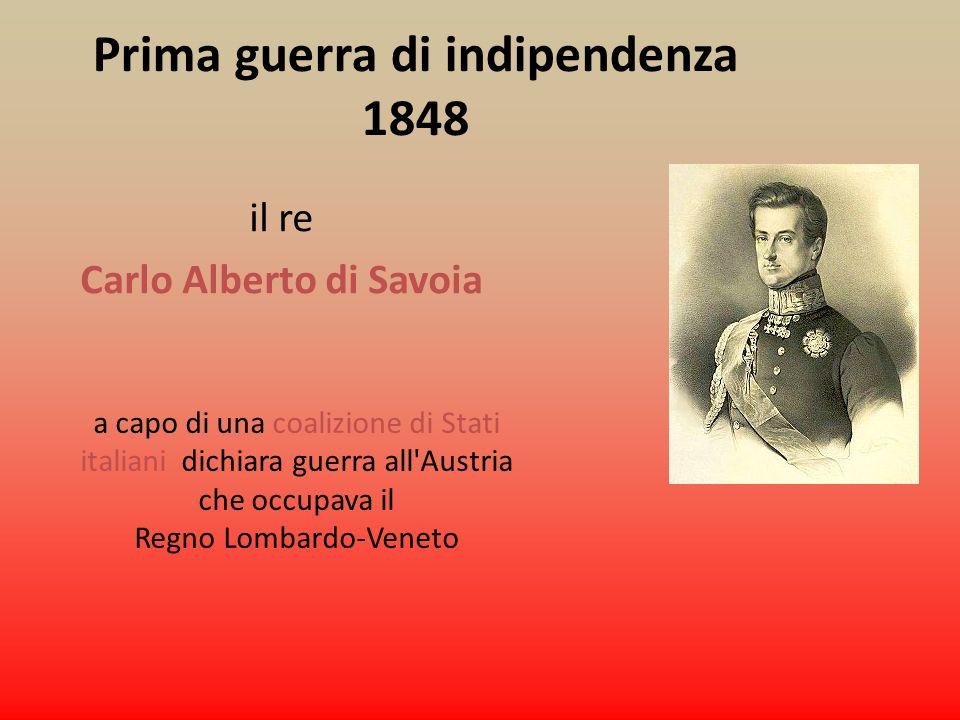 Prima guerra di indipendenza Carlo Alberto di Savoia