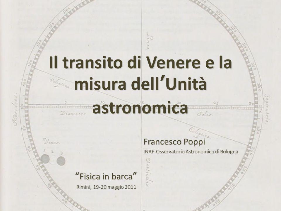 Il transito di Venere e la misura dell'Unità astronomica