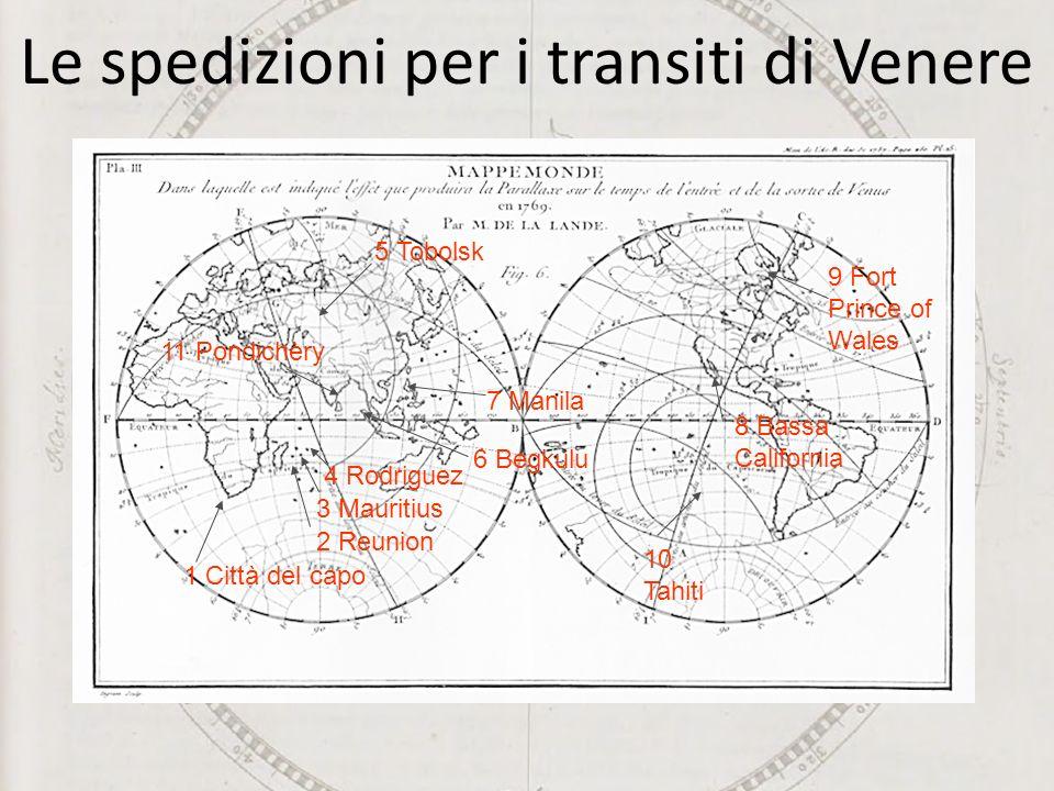 Le spedizioni per i transiti di Venere