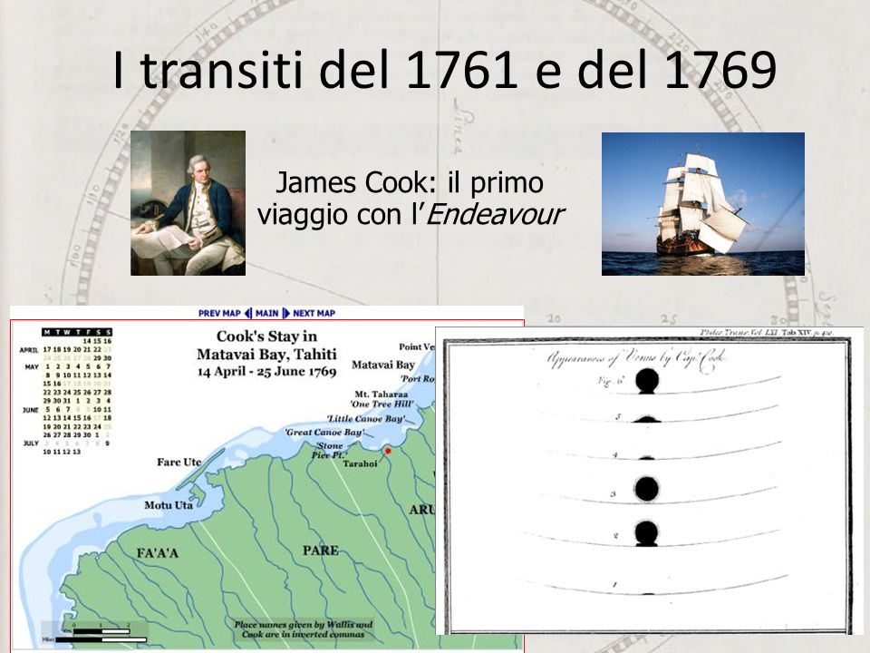 James Cook: il primo viaggio con l'Endeavour