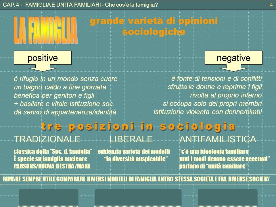 tre posizioni in sociologia