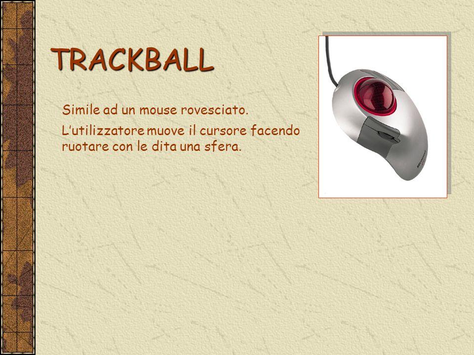 TRACKBALL Simile ad un mouse rovesciato.