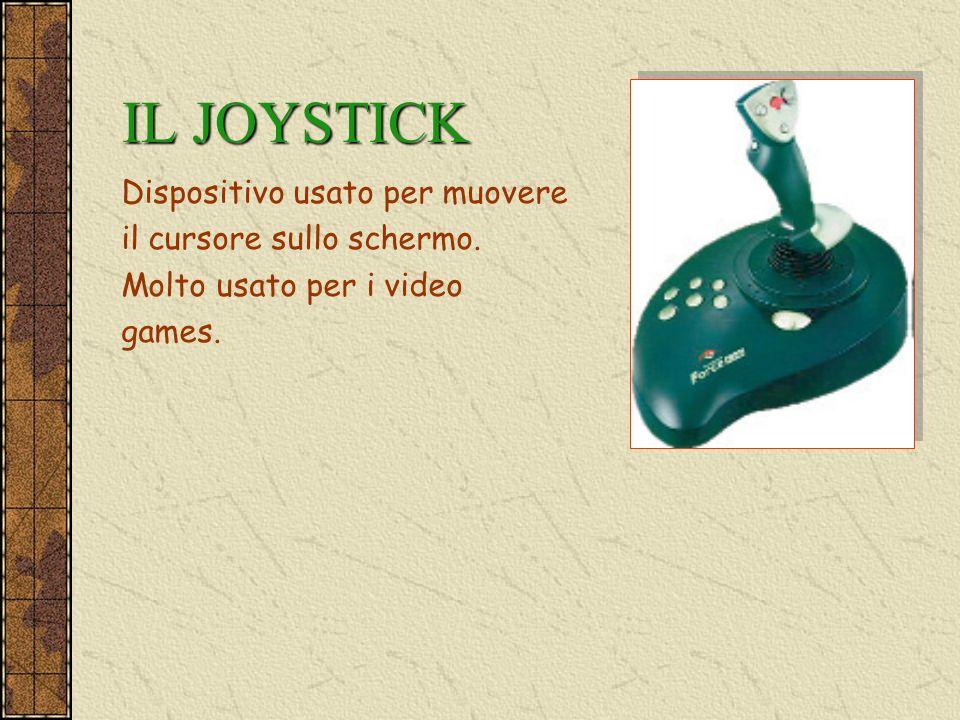 IL JOYSTICK Dispositivo usato per muovere il cursore sullo schermo.