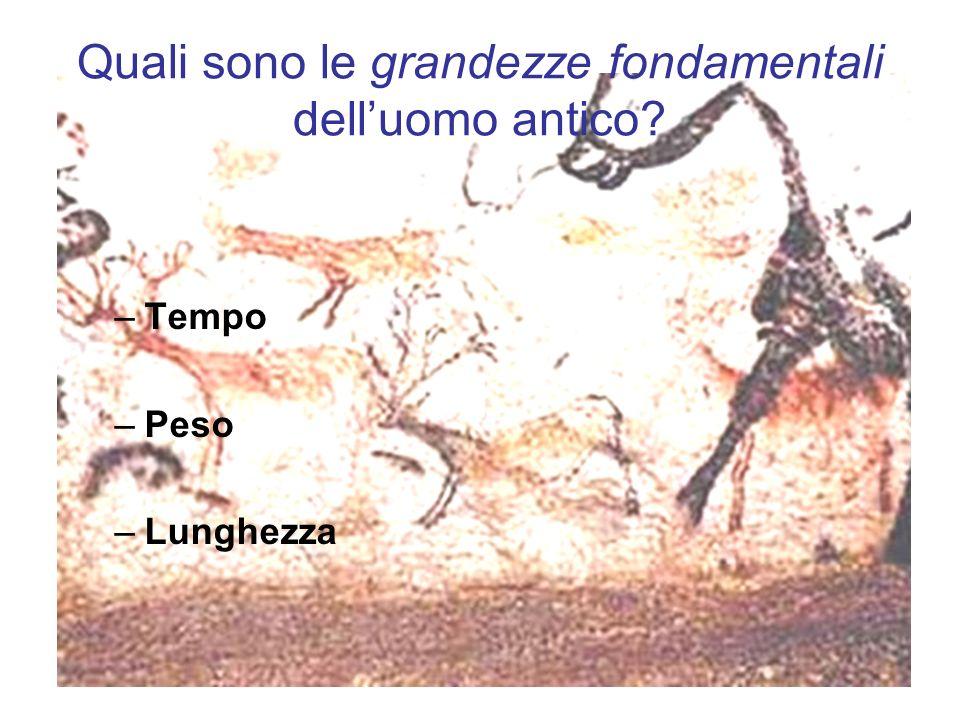 Quali sono le grandezze fondamentali dell'uomo antico