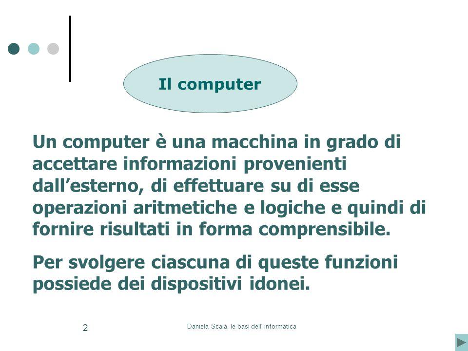 Daniela Scala, le basi dell informatica
