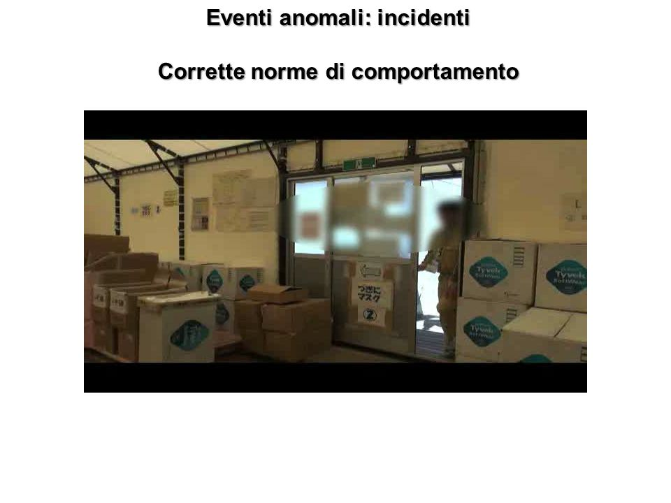 Eventi anomali: incidenti Corrette norme di comportamento