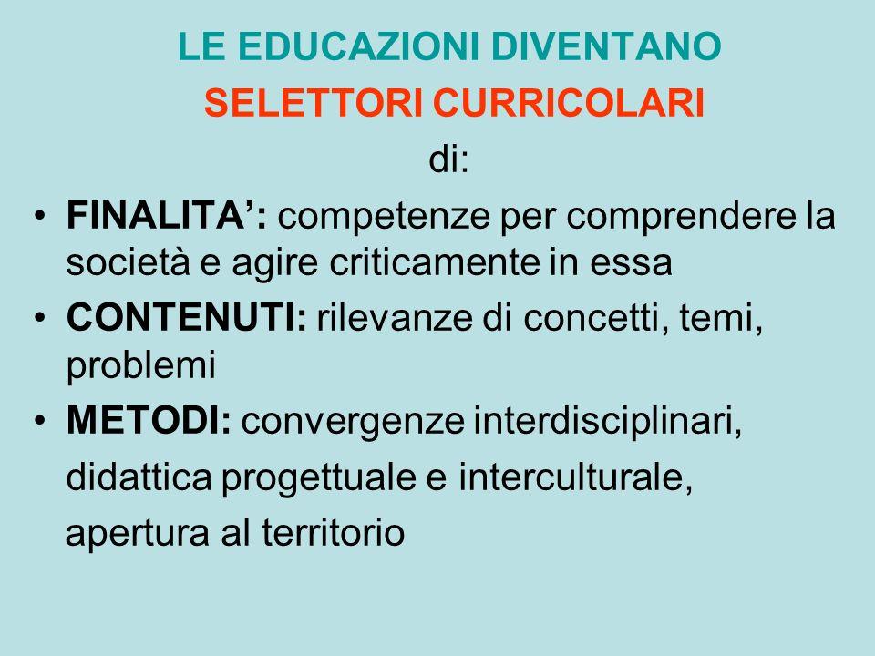 LE EDUCAZIONI DIVENTANO