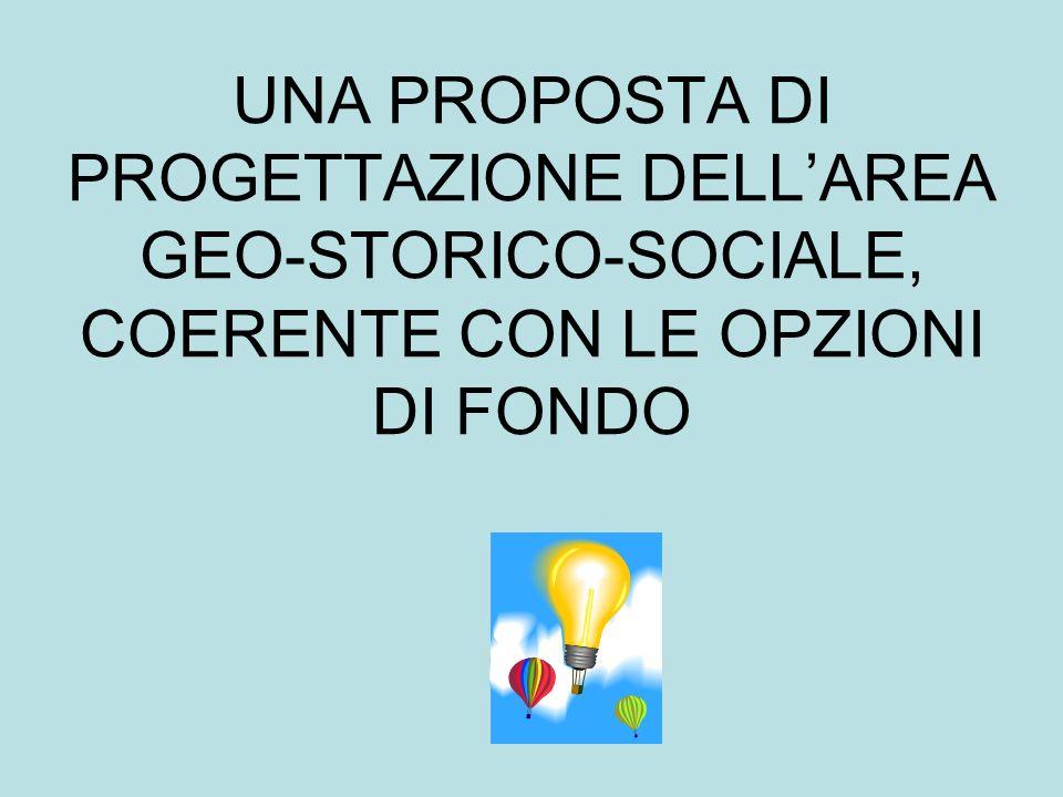 UNA PROPOSTA DI PROGETTAZIONE DELL'AREA GEO-STORICO-SOCIALE, COERENTE CON LE OPZIONI DI FONDO