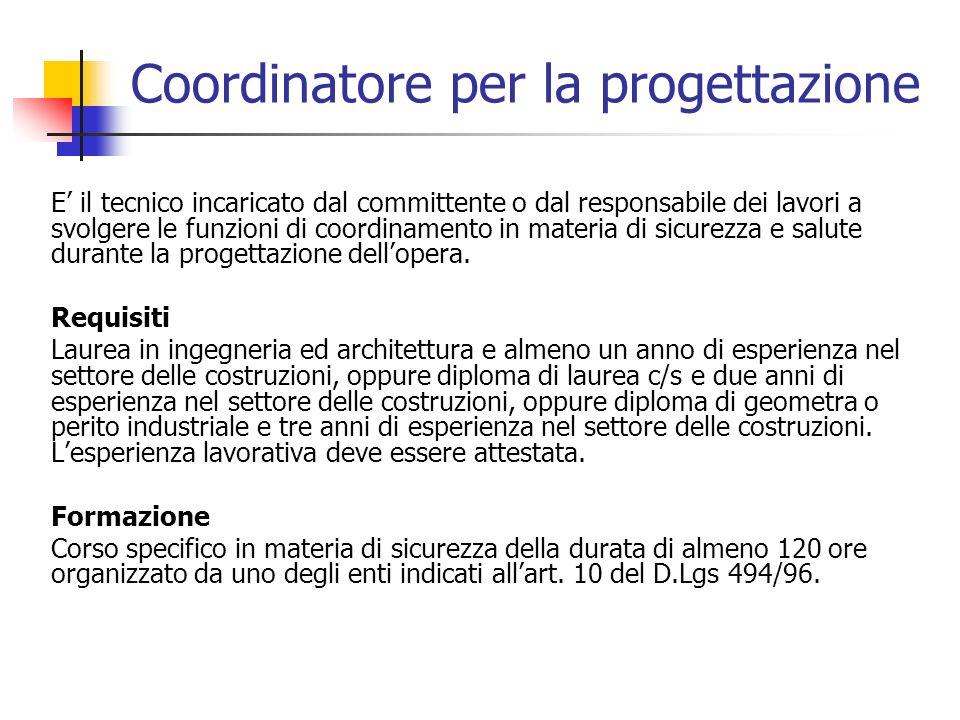 Coordinatore per la progettazione