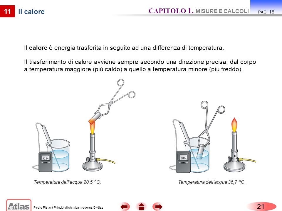 CAPITOLO 1. MISURE E CALCOLI Il calore