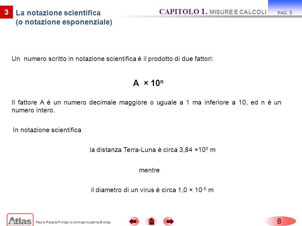 La notazione scientifica (o notazione esponenziale)
