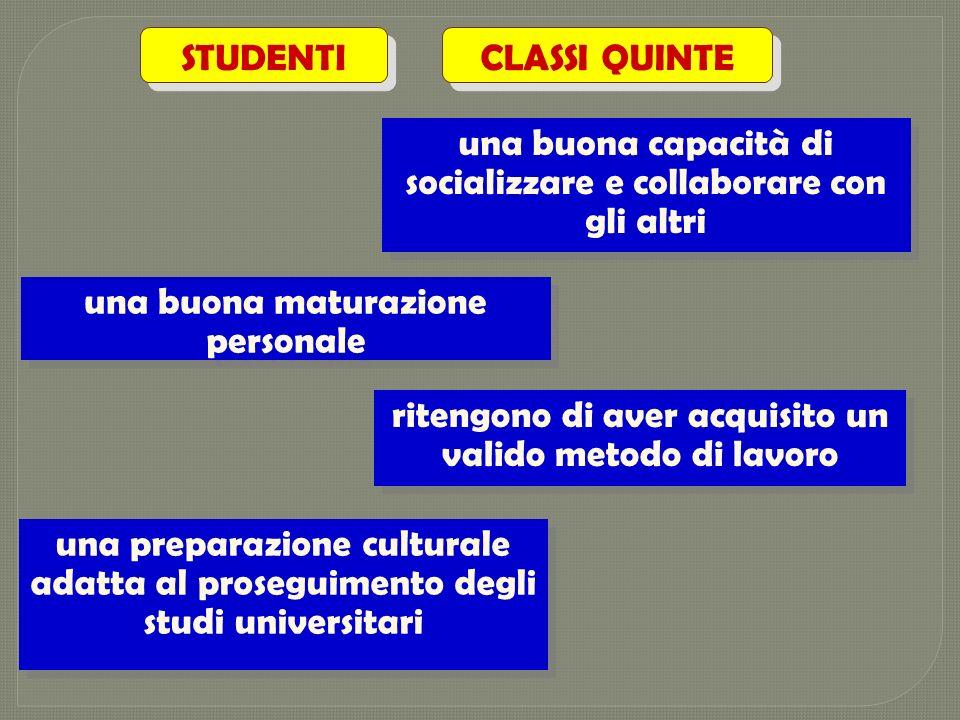 STUDENTI CLASSI QUINTE