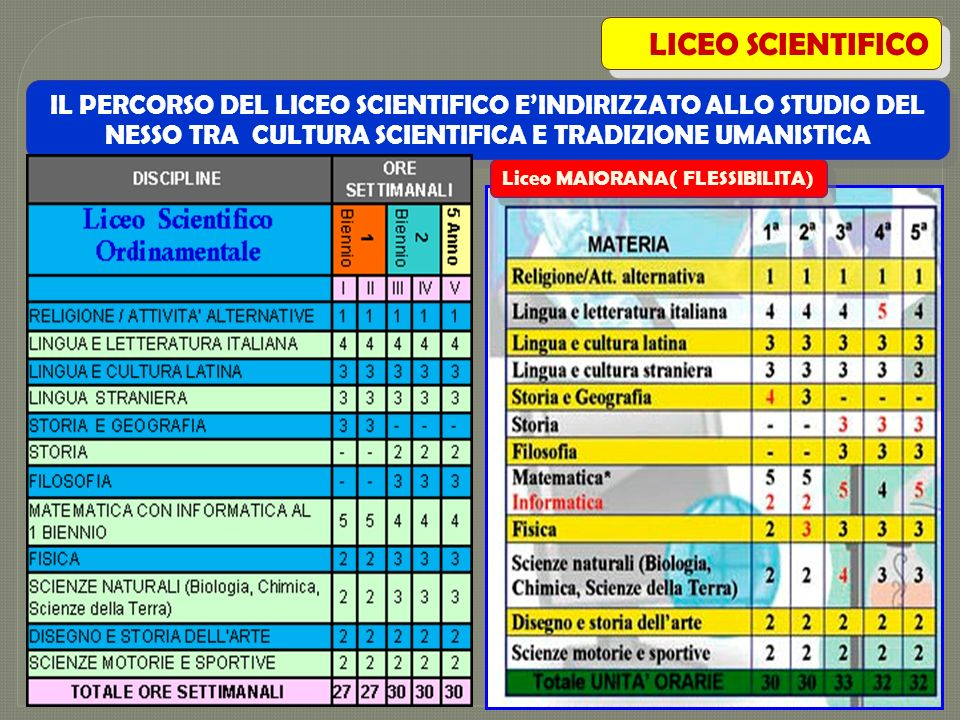 Liceo MAIORANA( FLESSIBILITA)