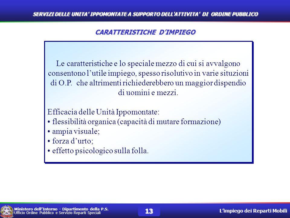 CARATTERISTICHE D'IMPIEGO