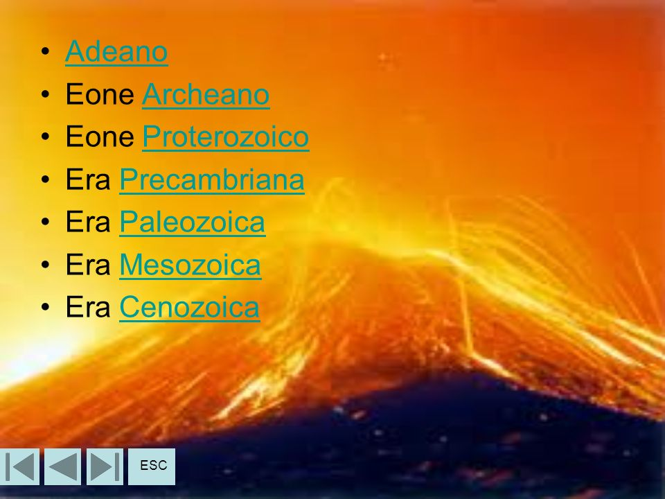 Adeano Eone Archeano Eone Proterozoico Era Precambriana Era Paleozoica