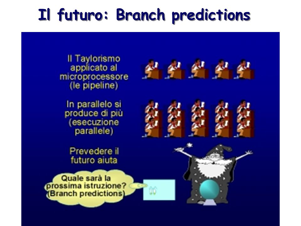 Il futuro: Branch predictions