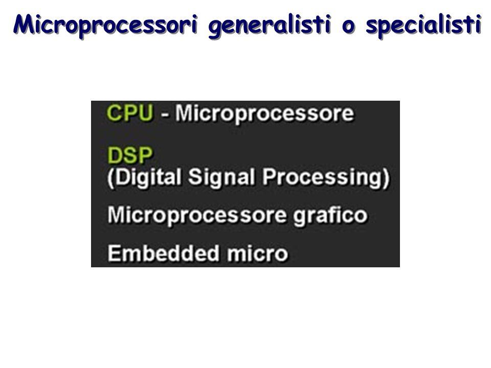Microprocessori generalisti o specialisti