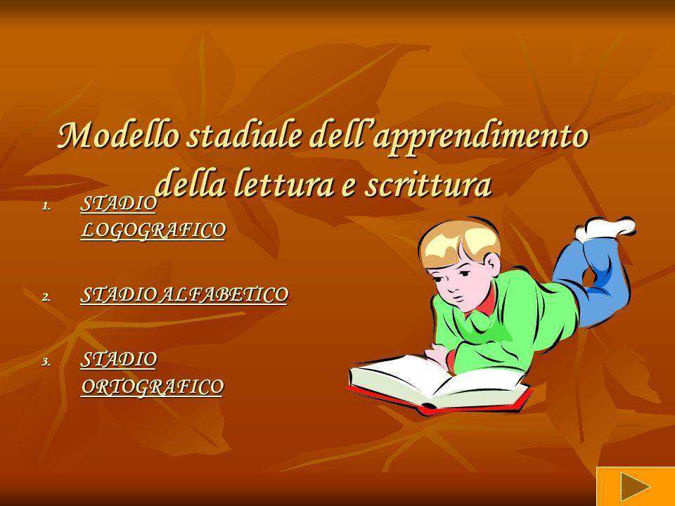 Modello stadiale dell'apprendimento della lettura e scrittura