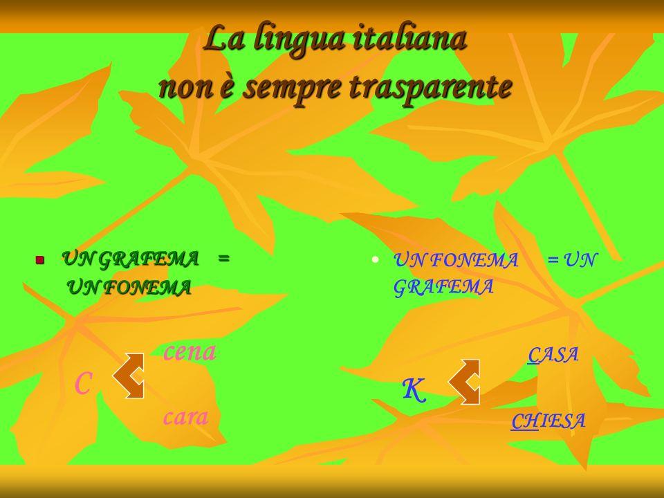 La lingua italiana non è sempre trasparente