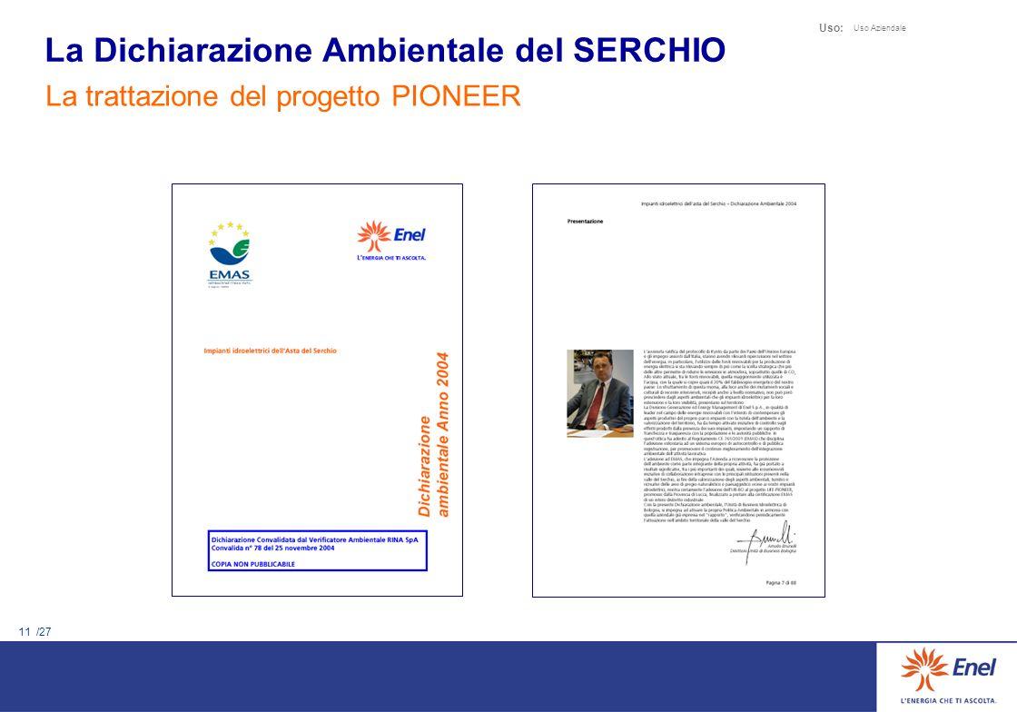 La Dichiarazione Ambientale del SERCHIO