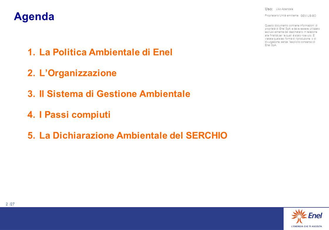 La Politica Ambientale di Enel