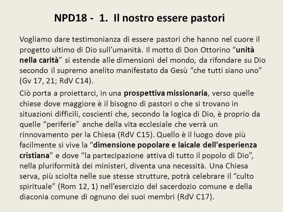 NPD18 - 1. Il nostro essere pastori