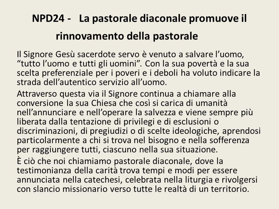 NPD24 - La pastorale diaconale promuove il rinnovamento della pastorale