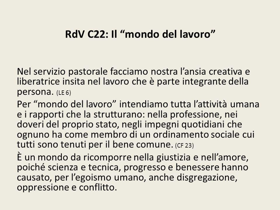 RdV C22: Il mondo del lavoro