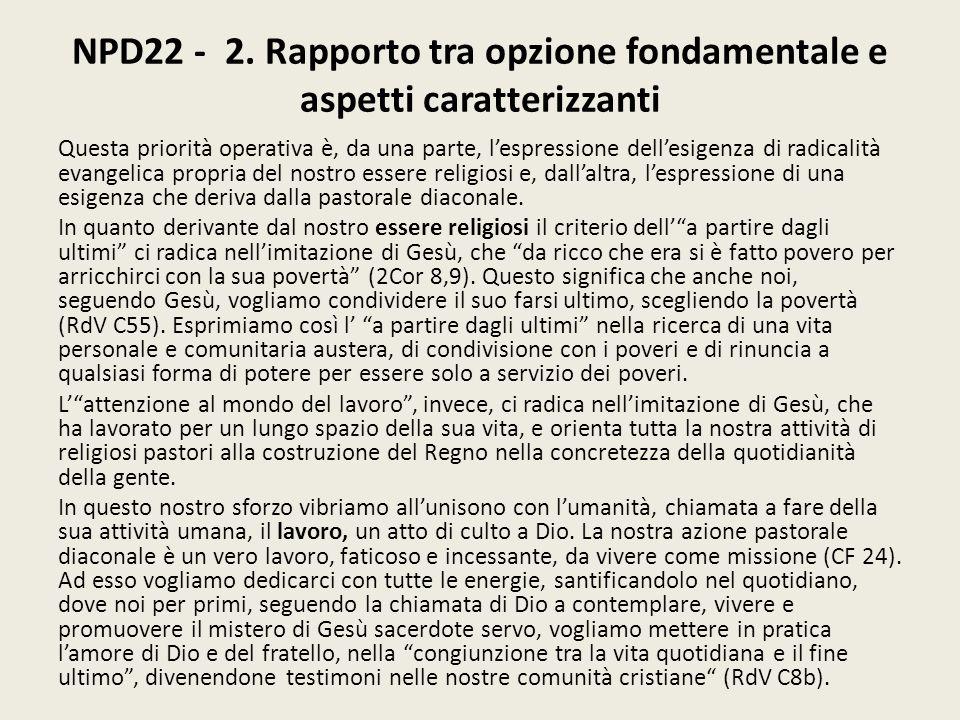 NPD22 - 2. Rapporto tra opzione fondamentale e aspetti caratterizzanti
