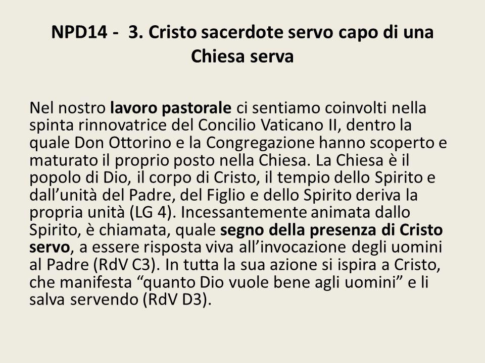 NPD14 - 3. Cristo sacerdote servo capo di una Chiesa serva