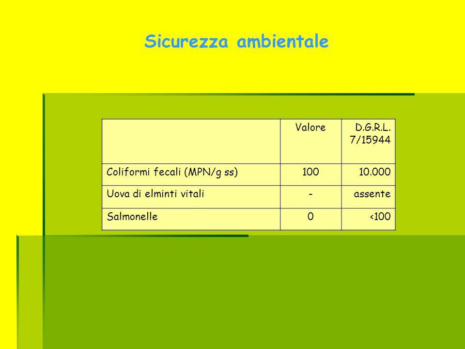 Sicurezza ambientale Valore D.G.R.L. 7/15944