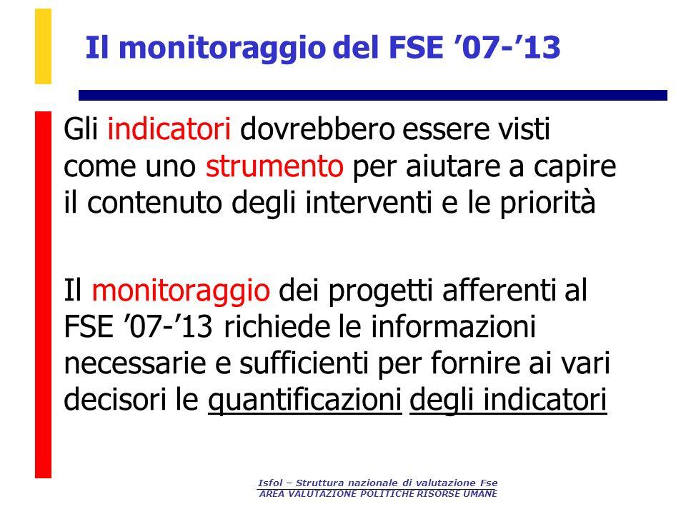 Il monitoraggio del FSE '07-'13