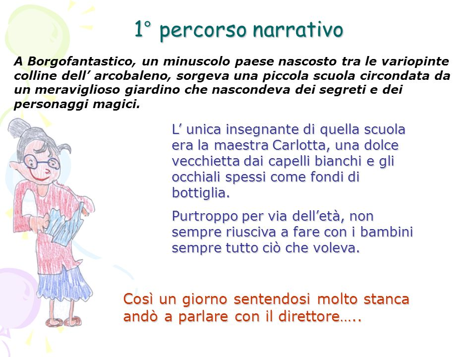1° percorso narrativo
