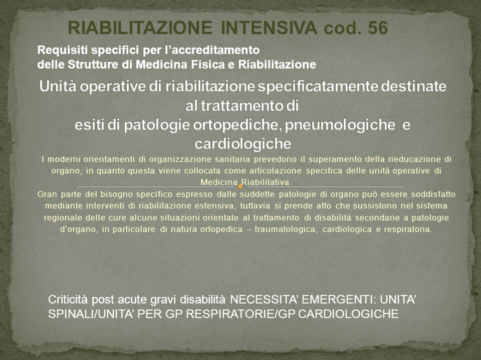 Medicina Riabilitativa.