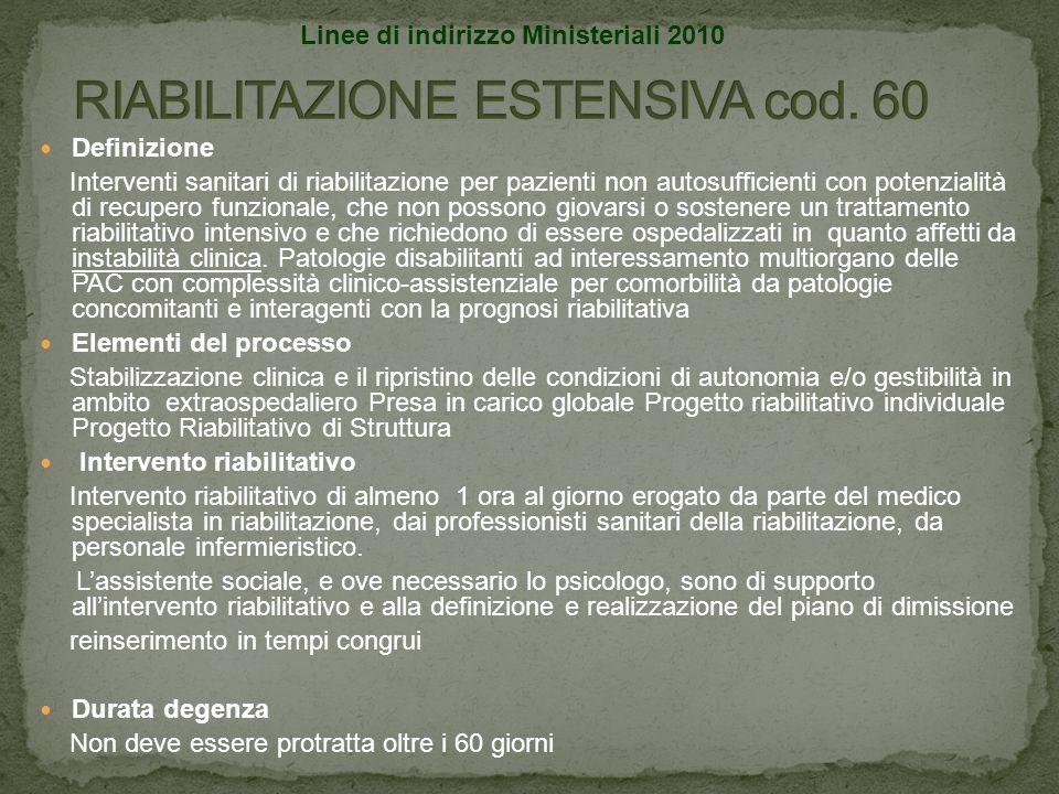 RIABILITAZIONE ESTENSIVA cod. 60
