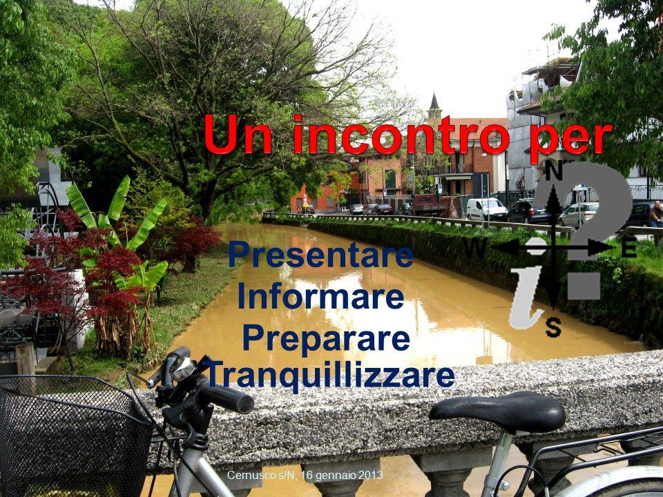 Un incontro per Presentare Informare Preparare Tranquillizzare