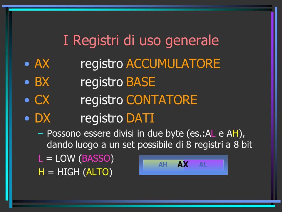 I Registri di uso generale
