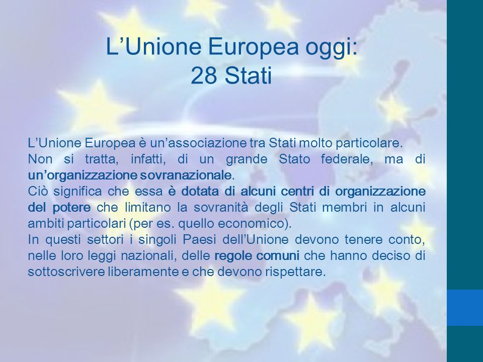 L'Unione Europea oggi: