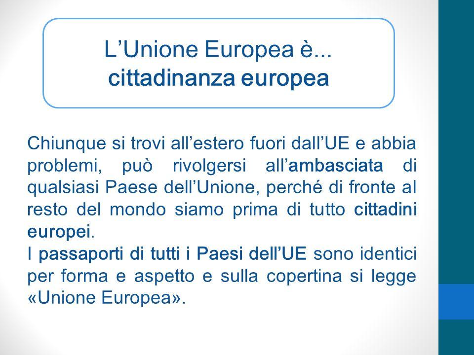 L'Unione Europea è... cittadinanza europea