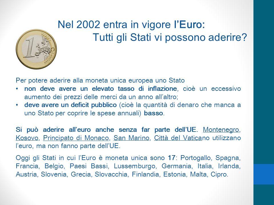 Nel 2002 entra in vigore l'Euro: