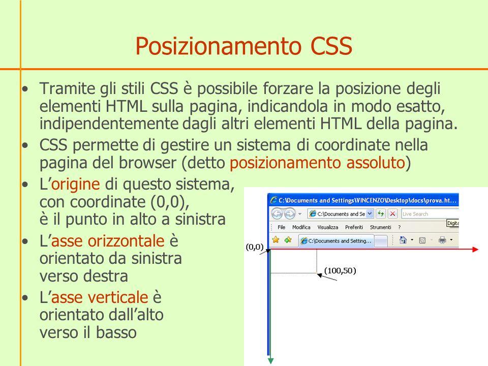 Posizionamento CSS