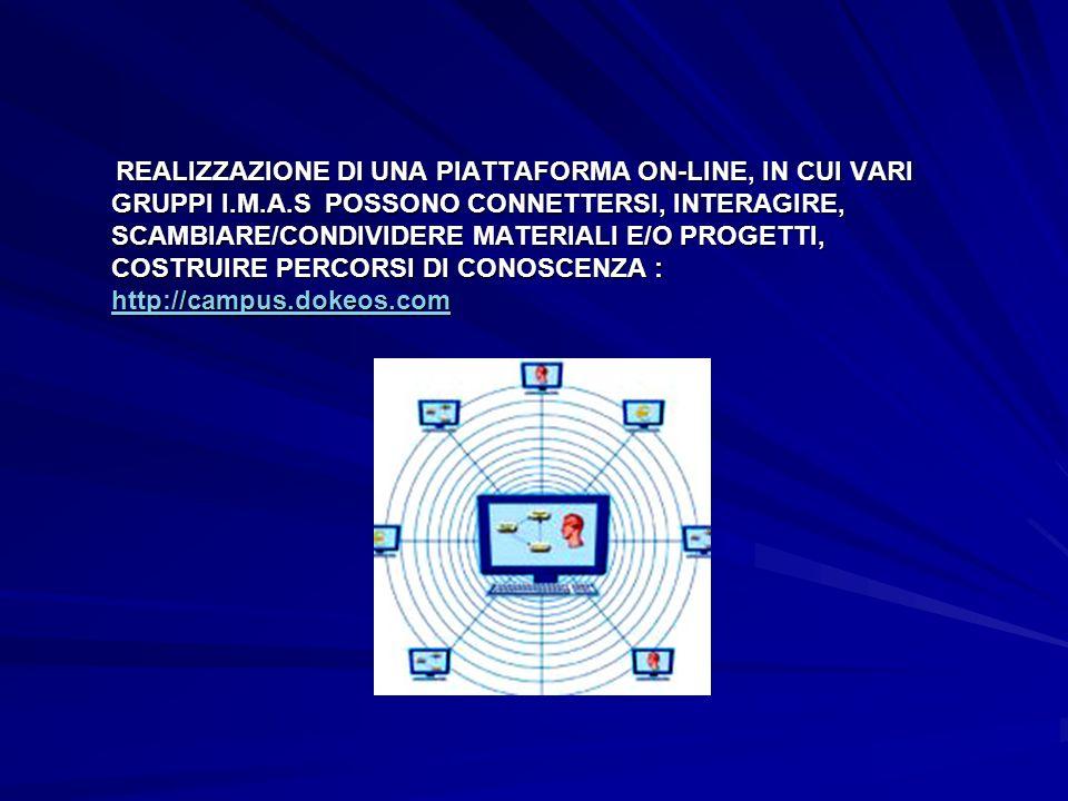 REALIZZAZIONE DI UNA PIATTAFORMA ON-LINE, IN CUI VARI GRUPPI I. M. A