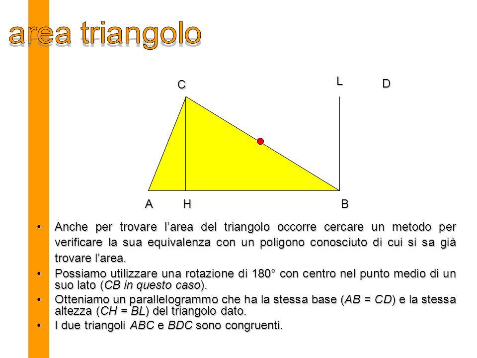 area triangolo L. C. D. A. H. B.