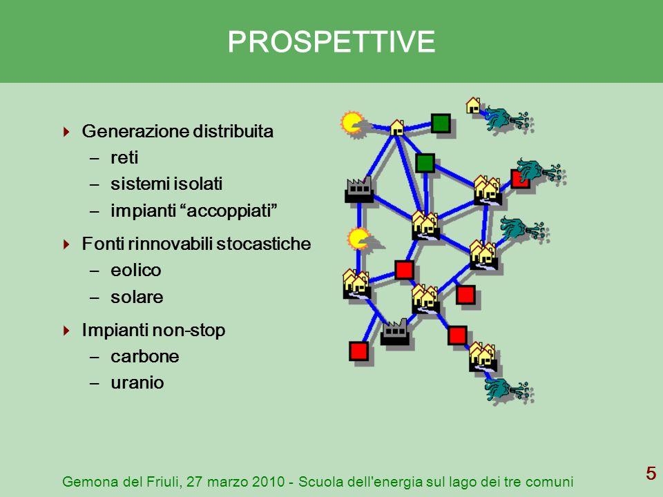 PROSPETTIVE Generazione distribuita reti sistemi isolati