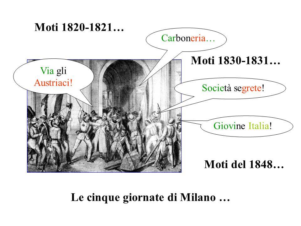 Le cinque giornate di Milano …